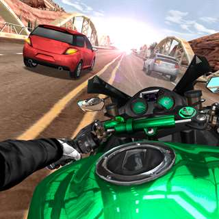 Moto Rider In Traffic Free Generator