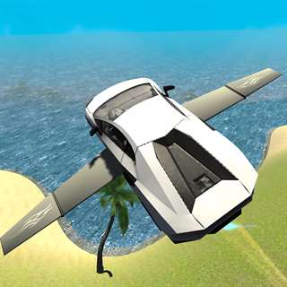 Flying Car Driving Simulator Free: Extreme Muscle Car - Airplane Flight Pilot Unlimited Generator