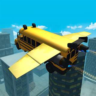 Flying Car Simulator 3D: Stunt Bus Hacks
