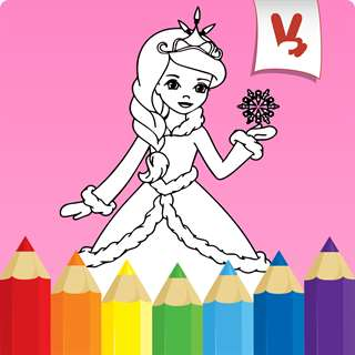 Princess coloring book for kids - Draw & Paint Hack Online