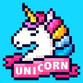 Unicorn Art: Color By Number Free Generator